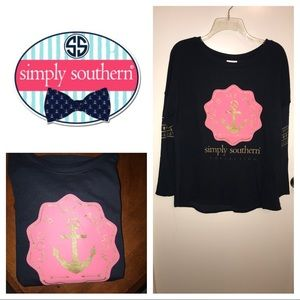 Simply Southern Navy Blue Long Sleeve